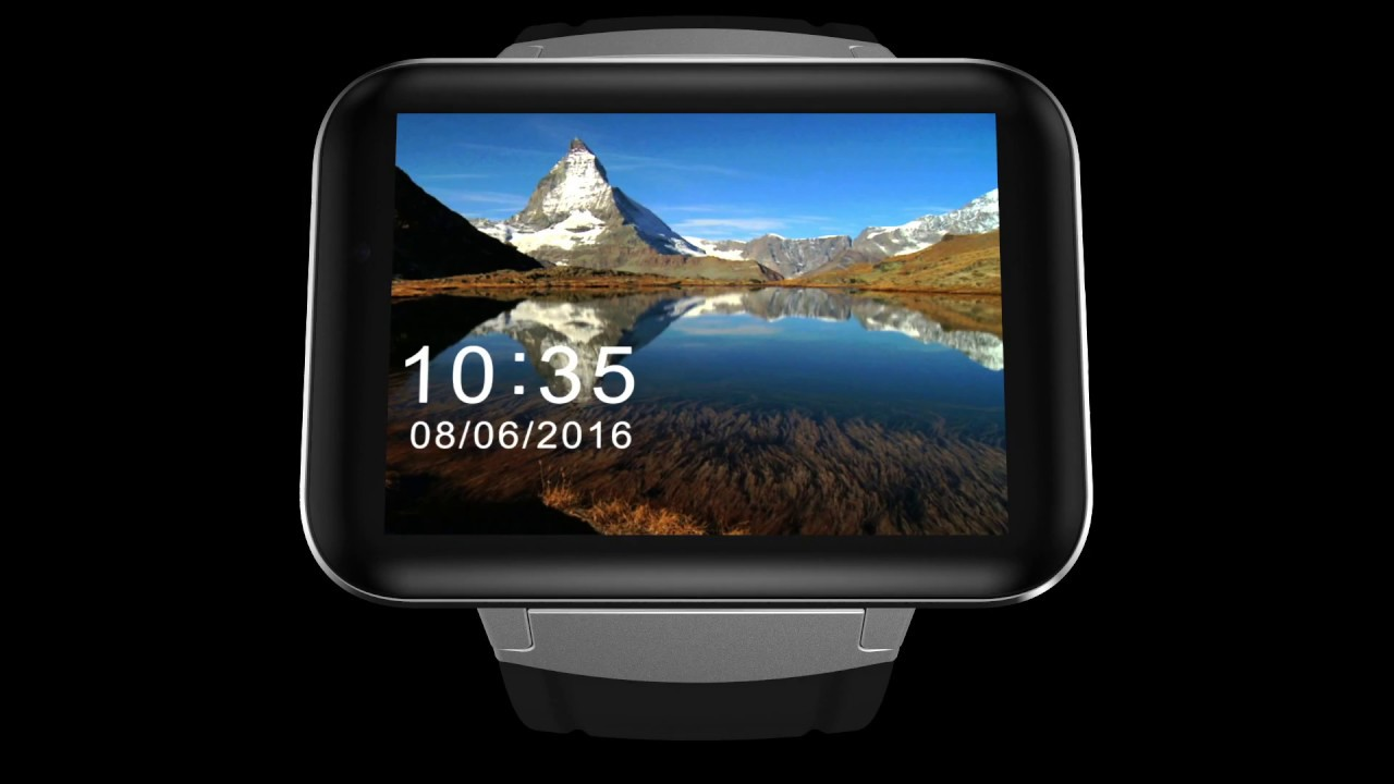 Dm98 Smart Watch Phone Android 5 1 Big Screen 3g Dual Core