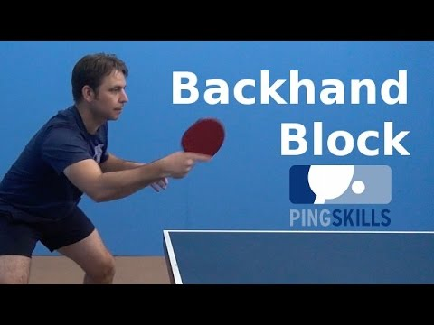 Backhand Block   PingSkills   Table Tennis