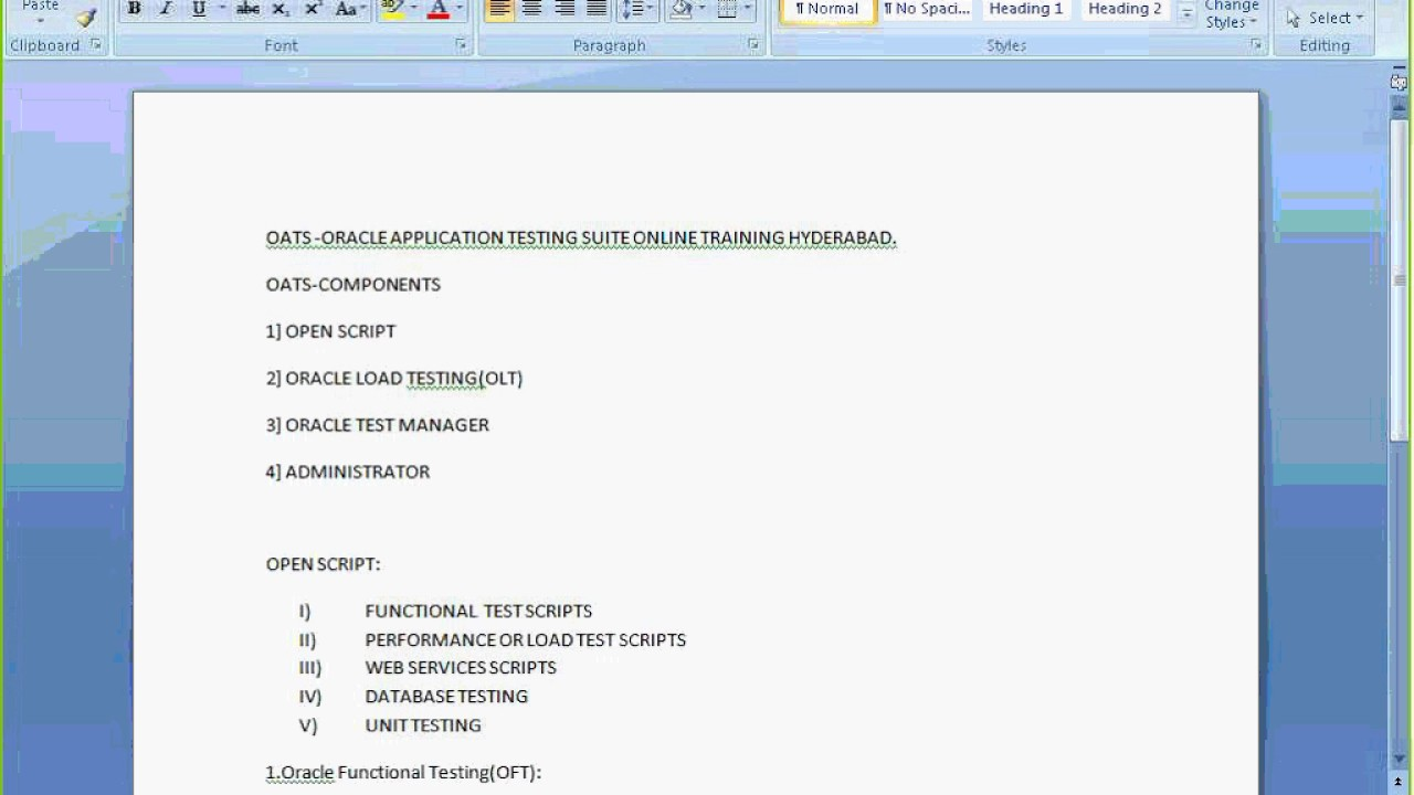 Oracle Application Testing Suite Online Training Hyderabad