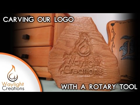 Carving Our Logo with a Rotary Tool
