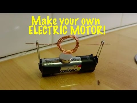 Extremely simple electric motor you can make for a science for Electric motor science fair project
