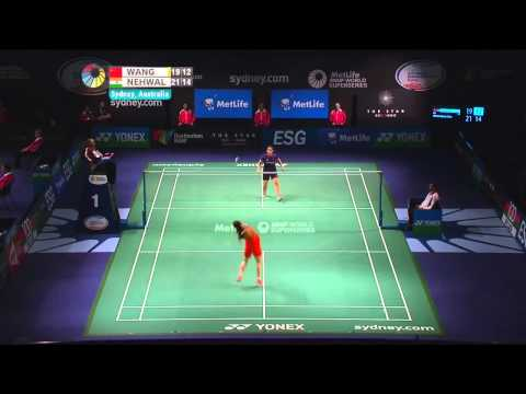 Badminton Highlights - Saina Nehwal vs Wang Shixian - SF 2014 Australian Badminton Open