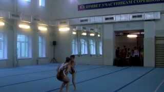Комбинированная КМС по спортивной акробатике (дочка в паре).