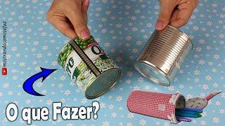 Ideia diferente e fofa reaproveitando 2 latas