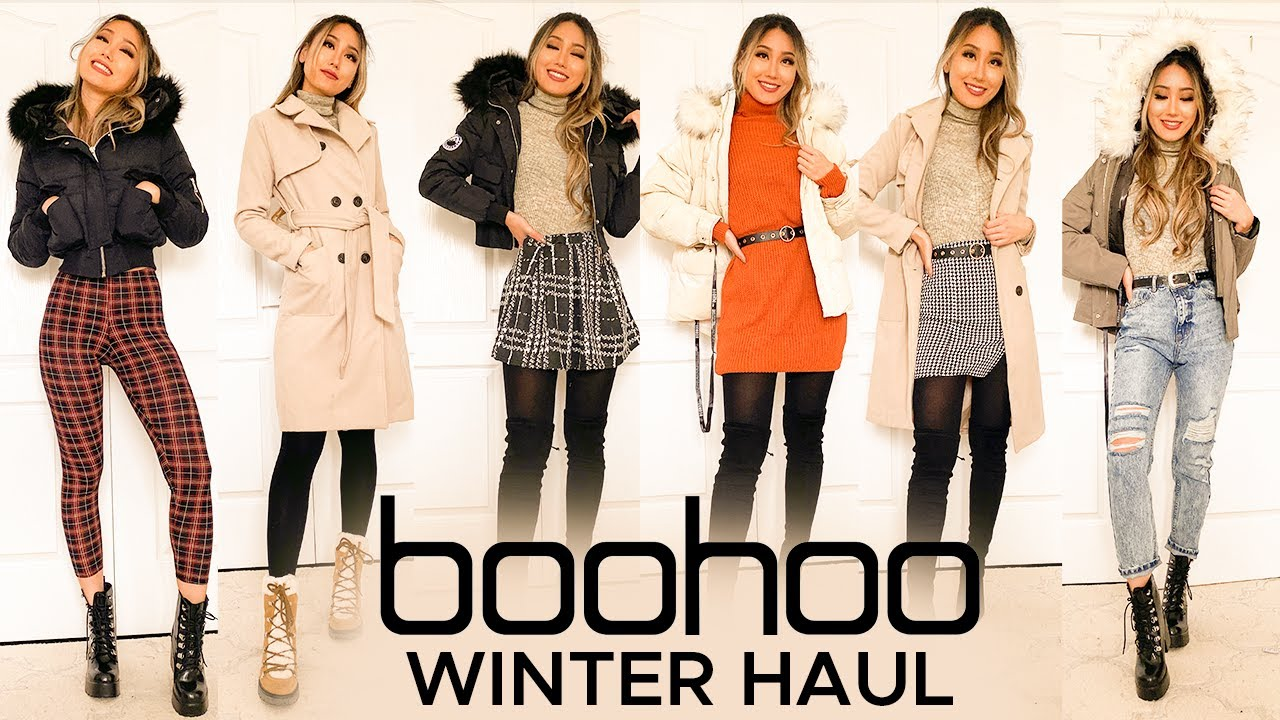 [VIDEO] – WINTER outfits try-on haul | BOOHOO Parkas Coats Sweaters Review