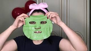 Маска для лица с экстрактом зелёного чая PUREDERM Deep Purifying Black O2 Bubble Mask Green Tea