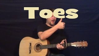 Toes (Zac Brown Band) Easy Strum Guitar Lesson Licks How to Play Toes Tutorial