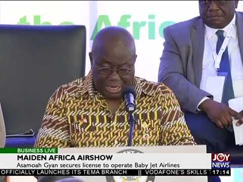 Maiden Africa Airshow - Business Live on JoyNews (25-10-17)