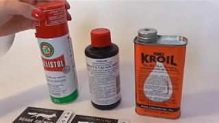 Обзор средств для чистки оружия от компаний Ballistol, Sweet, Kano Kroil