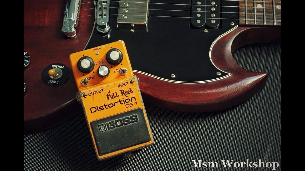 boss ds 1 distortion pedal full rock mod msm workshop youtube. Black Bedroom Furniture Sets. Home Design Ideas