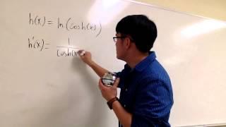 sect 3 11 33 derivative of ln cosh x
