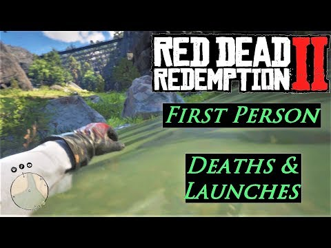 1st Person Deaths & Launches - Red Dead Redemption 2 (1st person ragdolls) thumbnail