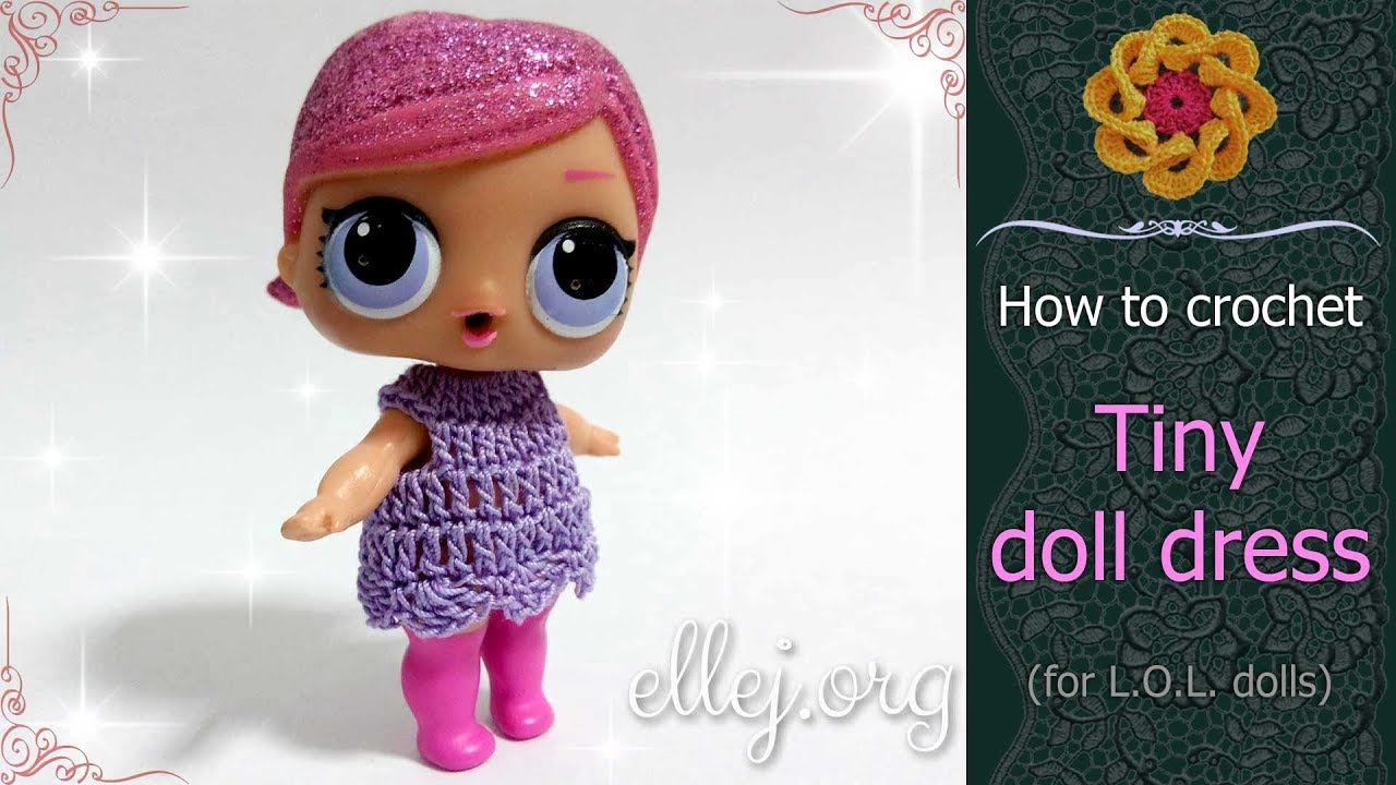 6 Pretty Crochet Doll Dress - Free Patterns - DIY 4 EVER | 720x1280