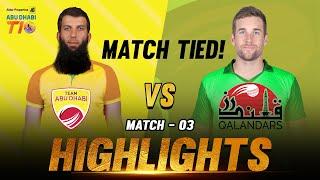 Aldar Properties Abu Dhabi T10 I  Season 3 I  Day 1 Match 3 I Team Abudhabi vs Qalandars