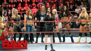 Stephanie McMahon announces the first-ever Women's Royal Rumble Match: Raw, Dec. 18, 2017