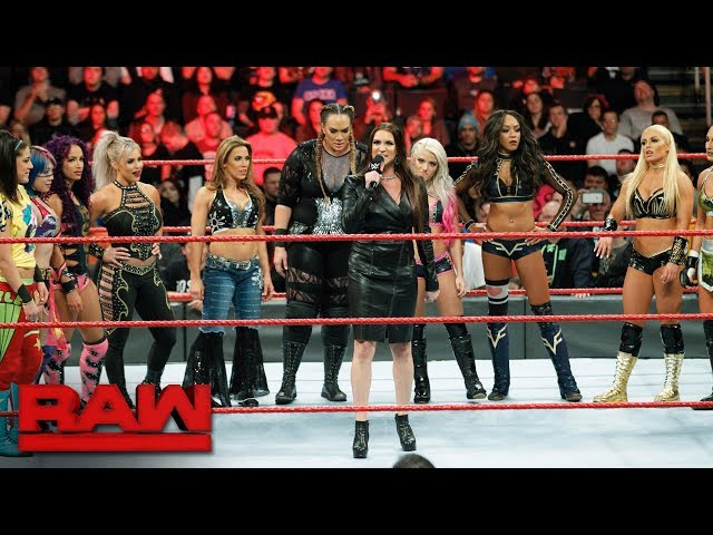Stephanie McMahon announces the first-ever Women's Royal Rumble Match: Raw, Dec. 18, 2017
