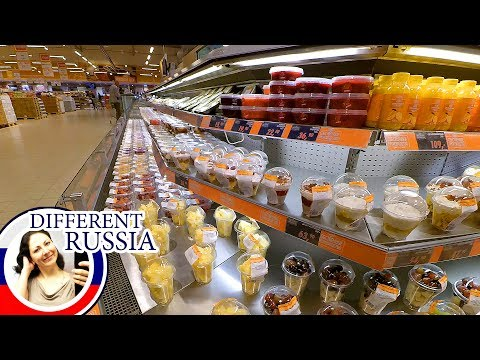 Russia, Moscow: Exotic Fruit Prices. How to Save Money on Food.