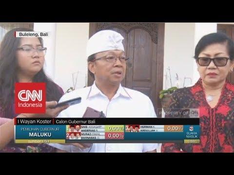 Cagub Bali I Wayan Koster Mencoblos Di Buleleng Bali | Pilkada Bali