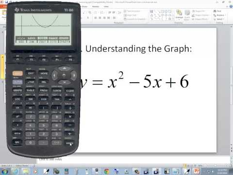 Technology In College Algebra - Zooming - TI-86