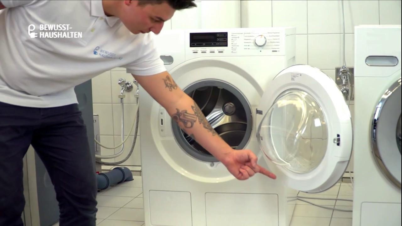 Wo befindet sich das typenschild einer waschmaschine? youtube