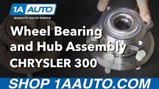 How to Install Replace Rear Wheel Bearing and Hub Assembly Rear Wheel Drive 2005-2008 Chrysler 300