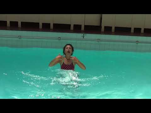 Marietta Mehanni Aqua Instructor Tip  - shallow water  jog with front side arm combo
