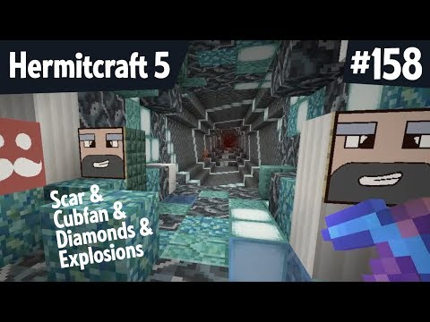 Diamonds and Cubfan and Scar! Explosive! — Hermitcraft 5 ep 158