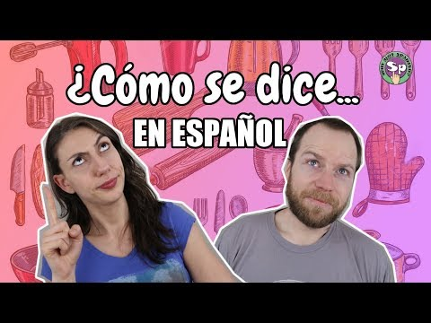 Vocabulary Game # 4 Guess the Kitchen Utensils and Electronics in Spanish!