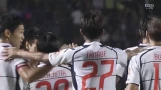 左サイドのワンツーから中島 翔哉(FC東京)がミドルシュートを決め、後...
