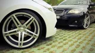 BMW E60 on VOSSEN CV5 20inch & H&R Lowering spring