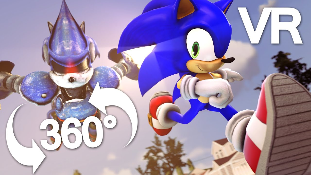 Sonic Animation Sonic The Hedgehog Battle 360 Vr Sfm Animation Sonic Animation Youtube