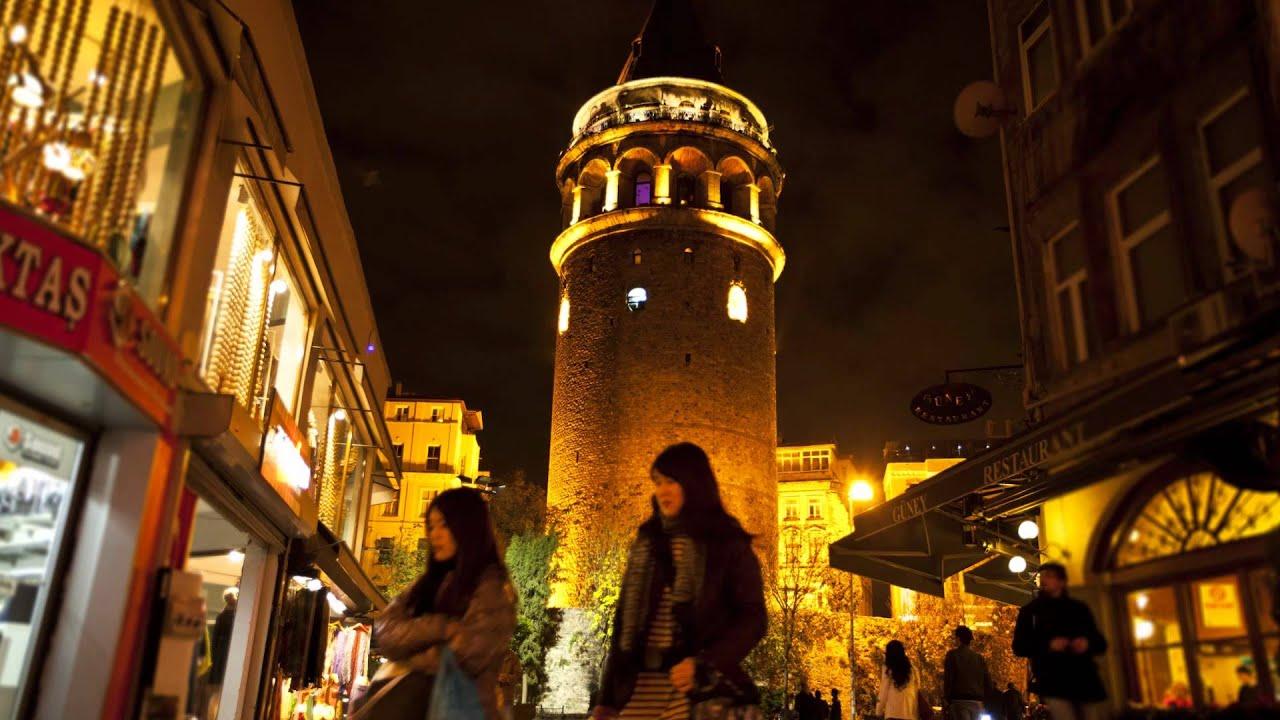 Galata Tower Time Lapse ( Beyoglu / Galata / Istanbul ...