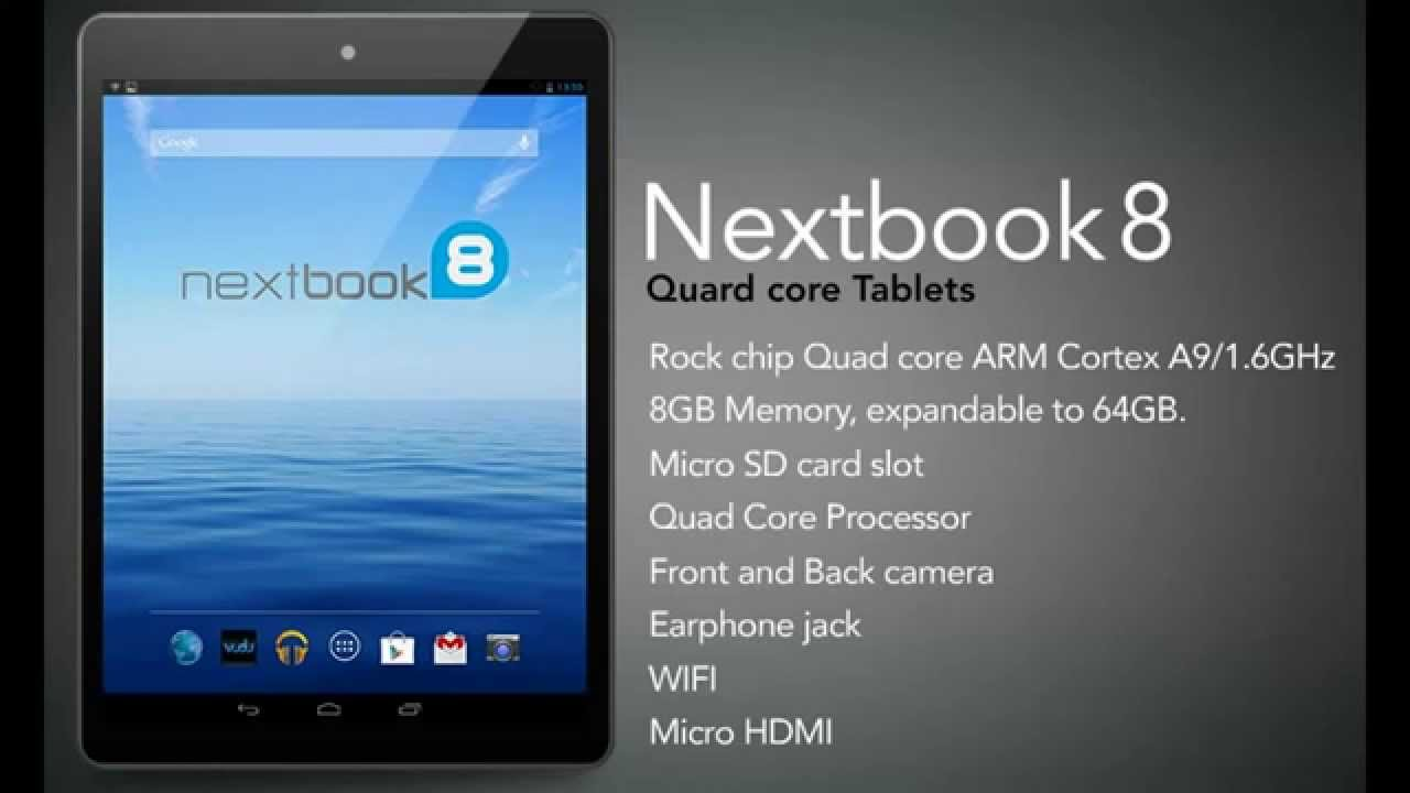 Nextbook Android Quad Core Tablet 8