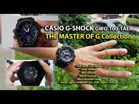 Casio G-Shock GWG-100-1AER MUDMASTER Solar MultiBand 6 review - YouTube 890d9305b6e