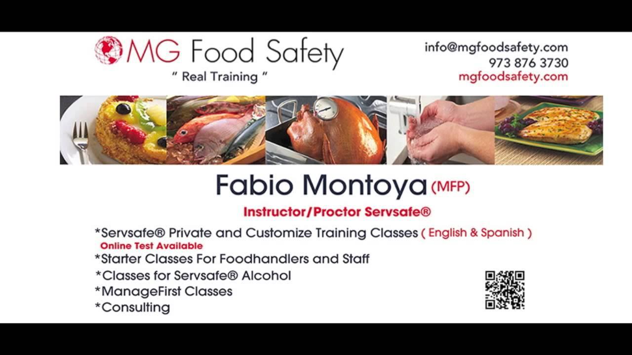 Servsafe® Food Handler Classes NJ - YouTube
