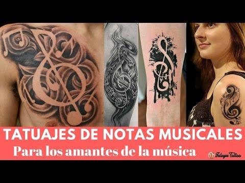Tatuajes de Música para los AMANTES de la Música por sus venas recorre solo música 🎵🎶🎶🎵