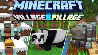 Minecraft 1.14 & 1.15 News : Village & Pillage Update! Panda's Bamboo, Scafolding & Crossbows