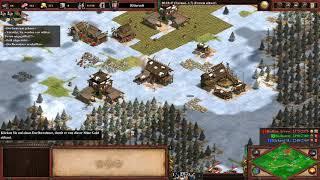 1v2 auf Dunkler Wald gegen Extrem Schwer KI | Age of Empires 2 Definitive Edition