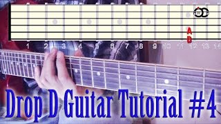 Drop D Guitar Riff Tutorial #4