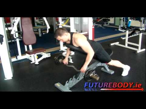Back exercise -  Incline Bench Barbell Rows / Barbell Pull