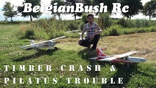 e flite timber bnf crash and multiplex pilatus porter