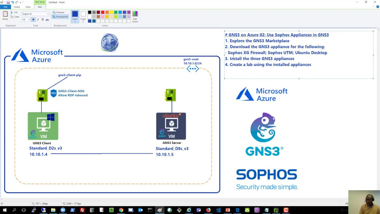 GNS3 on Azure 02: Use Sophos Appliances in GNS3 – Azurehangout