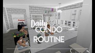 ROBLOX | Bloxburg: Daily Condo Routine | Roleplay