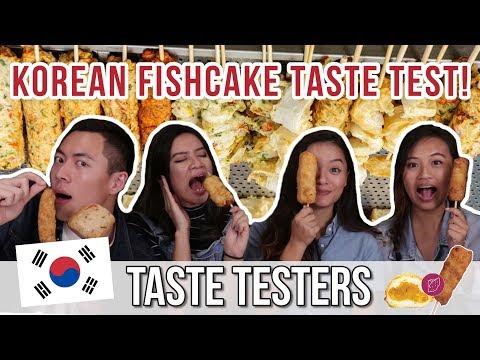 KOREAN FISHCAKE TASTE TEST! | Taste Testers | EP 28