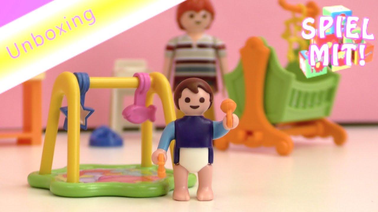 Plamobil Puppenhaus Kinderzimmer (5304): komplett mit Wiege ...