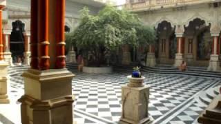 Inside The Krishna Balaram Mandir, Vrindavan, India