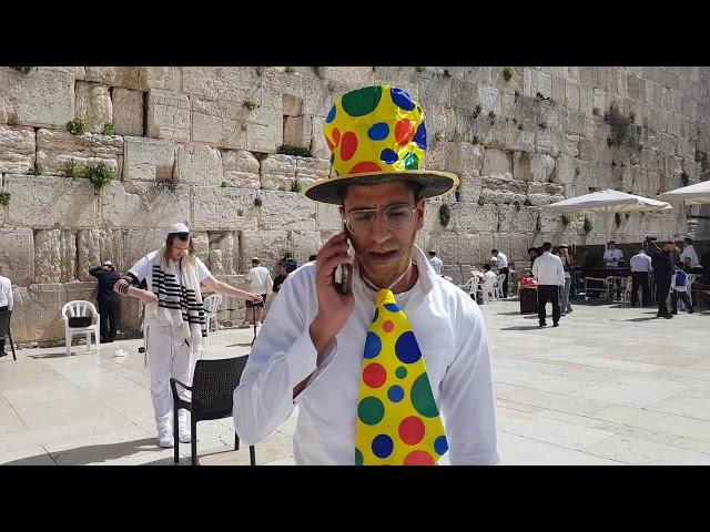 Bar Mitzvah Ceremony at the Wailing Wall (Western Wall), Jerusalem during Coronavirus disease