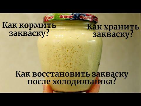 ☆ Как кормить и хранить пшеничную закваску для хлеба ☆ Восстановление закваски после холодильника