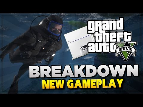 GTA 5 PS4 Gameplay Official Trailer BREAKDOWN ! New Content & Animals