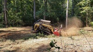 Forestry Mulching Along a Creek Trail